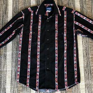 Vintage Wrangler Western Shirt - Small